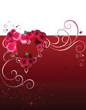 Background with heart and roses Royalty Free Stock Photography