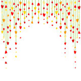 Background with heart-shape garland Stock Images