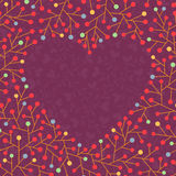Background with heart shape Stock Photo
