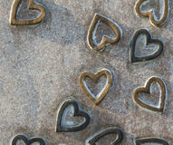 Background heart shape stone Royalty Free Stock Photo