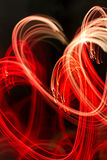 Background with heart-shaped lights Stock Photo