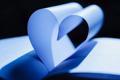 Background with heart-shaped paper Stock Images