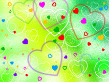 Background Heart Shows Valentine's Day And Affection Stock Photo