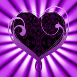 Background Heart Shows Valentines Day And Abstract Stock Photography