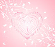 Background with heart, vector. Illustration Stock Photos
