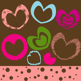 Background with heart. Vector Illustration Stock Photography