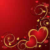 Background with Hearts royalty free stock image