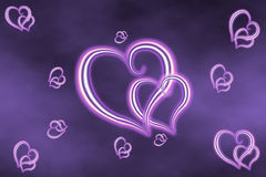Background from hearts Stock Photos