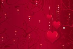Background from hearts Stock Images