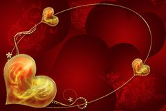 Background from hearts Royalty Free Stock Images