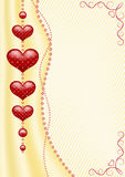 Background with hearts. Royalty Free Stock Photos