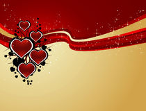 Background with hearts royalty free illustration