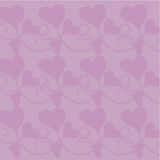 Background with hearts. On lily Royalty Free Stock Image