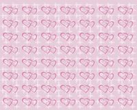 Background with hearts. On pink Stock Images