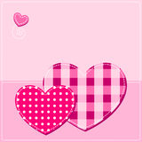 Background with hearts. Pink background with hearts. textile style Royalty Free Stock Photos