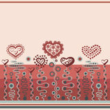 Background with hearts. Decorative color background with hearts stock illustration