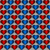 Background with hearts. Background with red and blue hearts Royalty Free Stock Image
