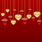 Background of hearts Stock Image