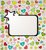 background with hearts. Stock Photo