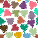 Background with hearts. Hearts decorated with ornaments royalty free illustration