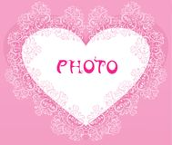 The background of hearts Stock Image