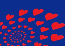 Background with hearts Royalty Free Stock Photography