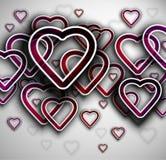 Background with hearts. 3D background with hearts. Eps 10 Royalty Free Stock Photos