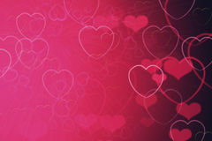 Background from the hearts Royalty Free Stock Photography