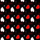 Background with hearts. Seamless square background with pattern made of hearts and signs Stock Photography
