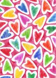 The background with hearts Royalty Free Stock Photo