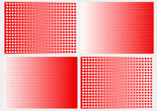 Background hearts. Four different background with hearts vector illustration