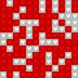 Background of hearts. Background of two colored squares with  Valentine hearts on them Stock Photos