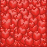 Background from hearts Stock Photography
