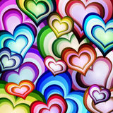 Background of hearts. A colorful background of hearts Royalty Free Stock Image