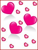 Background from hearts. Background from few pink hearts Stock Photography