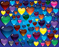 Background with hearts. A vector background with hearts - vector illustration royalty free illustration