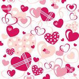 Background with Hearts. Vector illustration of an abstract background with lot of interesting hearts stock illustration