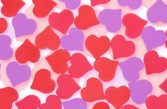 Background of hearts Stock Photo