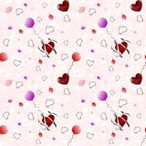 Background with hearts. Beautiful illustration of an abstract background with hearts on white background royalty free illustration