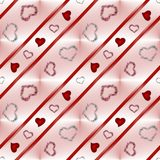 Background with hearts. Beautiful illustration of an abstract background with hearts on white background stock illustration
