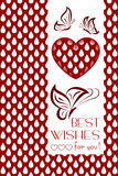 Background with Hearts for Birthday or Wedding or Valentine's Royalty Free Stock Photo