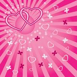 Background with hearts and butterflies. Royalty Free Stock Photography