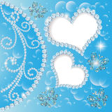Background with hearts and butterflies made  Royalty Free Stock Images