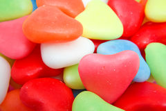 Background of hearts candy Royalty Free Stock Photo