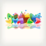 background with hearts Royalty Free Stock Photos