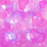 Background with hearts Stock Photos