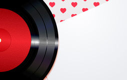Background with hearts and a disc Royalty Free Stock Images