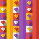 Background with hearts in flat icon style Stock Photos