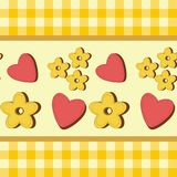Background with hearts and flowers Royalty Free Stock Photography