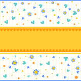 Background with hearts, flowers and dots Royalty Free Stock Photos